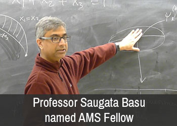 Professor Saugata Basu named AMS Fellow