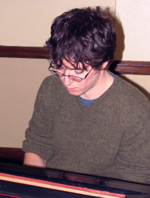 Sal Barone plays the Piano during the 2008 Annual Department of Mathematics Talent Show