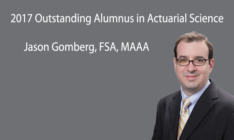 Jason Gomberg named Actuarial Science Outstanding Alumnus