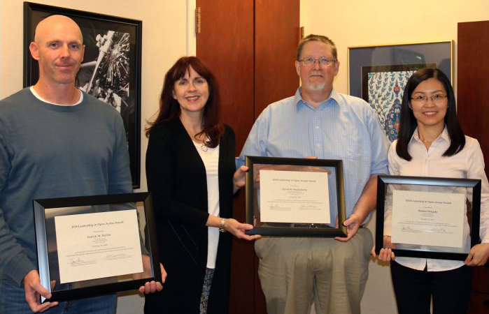 Math Continuing Lecturers honored for work in open access