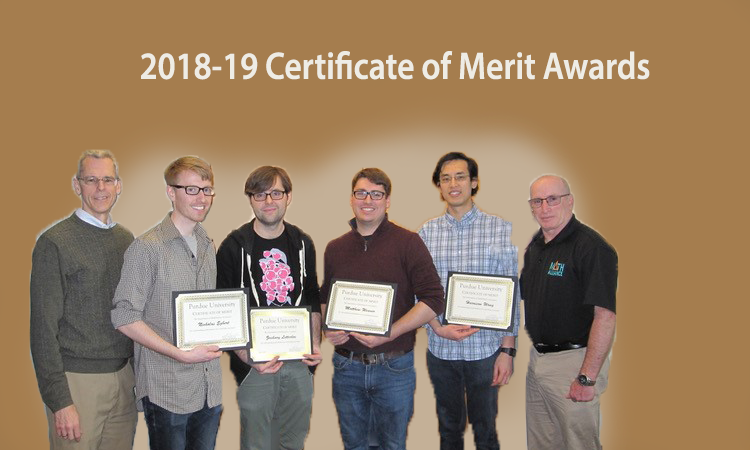 2018-19 Certificate of Merit Awards