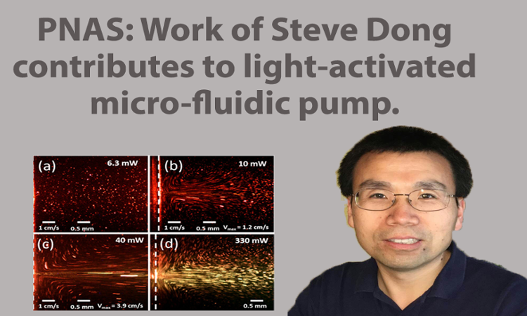 PNAS:  Work of Steve Dong contributes to light-activated micro-fluidic pump