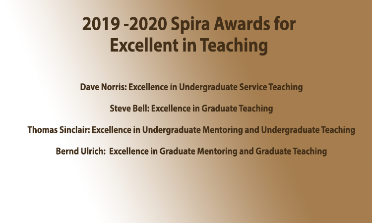 2019-20 Ruth and Joel Spira Faculty Teaching Awards