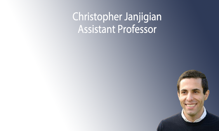 Christopher Janjigian will join the Department of Mathematics