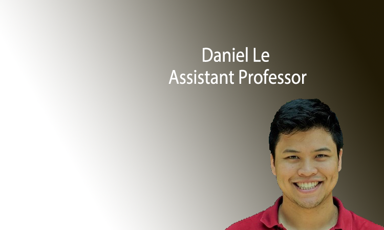 Daniel Le as a new tenure-track assistant professor in August 2020