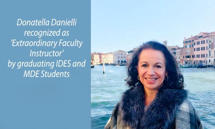 "Donatella Danielli recognized as ""Extraordinary Faculty Instructor"""