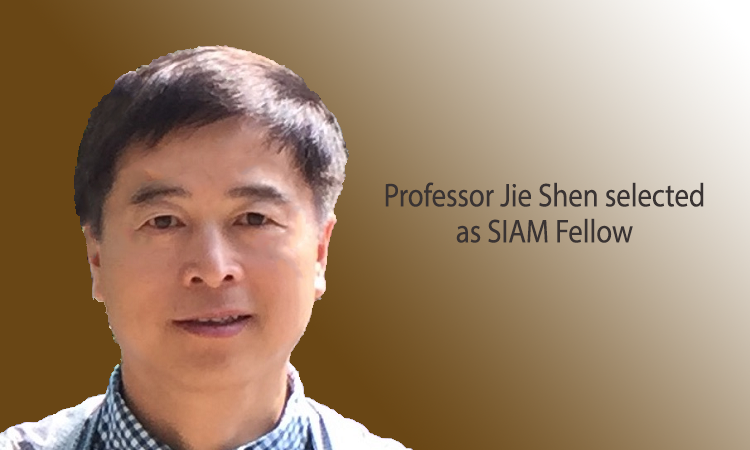 Professor Jie Shen selected as SIAM Fellow