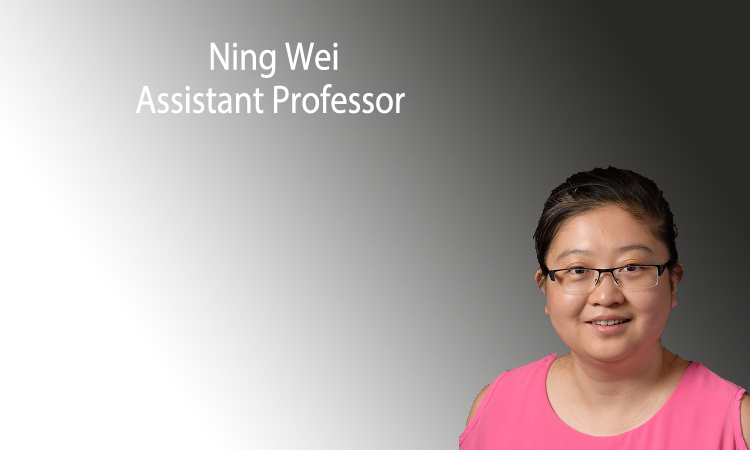 Ning Wei will join as a new tenure-track assistant professor